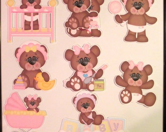 Variety of baby girl die cuts