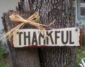 FALL, Thanksgiving, Thankful sign