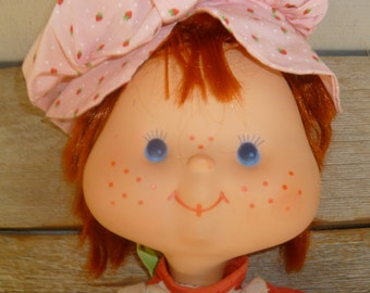 Rare Strawberry Shortcake Cloth Doll with Vinyl Face