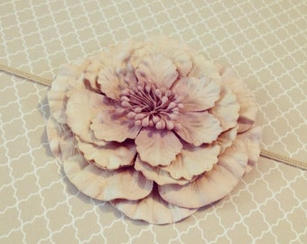 Mauve Flower Headband: Newborn Headband, Child Headband, Baby Headband, Photography Prop