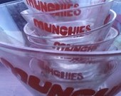 7 pc MUNCHIES Vintage Chip & Dip Bowl Snacking Set NOW 15 OFF