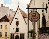 Tallinn Estonia Photography - Architecture Print - Old Town Photo - Rustic European Decor - Brown and Cream - Travel Photography