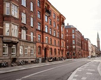 Copenhagen Denmark Photography - Danish Architecture - Urban Decor - Streets of Copenhagen Photo - Travel Photography City Art Print
