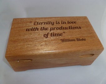Wood  Watch Box personalized with 2 Finger Grooves and Stop Route Feet  Excellent Wood