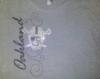 Raiders Bling and Glitter Top