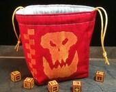 Orc Clan Dice Bag - Da Red Wunz