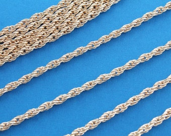 16Ft Gold Plated Braided Chain 5mm x 3.5mm - FD167