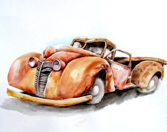 An Abandoned Car,  Holiday present / birthday present / art collection