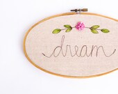 Embroidery Hoop Art, Child's Room Decor, Personalized Nursery Decor, Embroidered Nursery Wall Art, MADE TO ORDER by MamaBleuDesigns