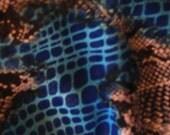 Bright Snake Skin Patterned Yoryu Scarf