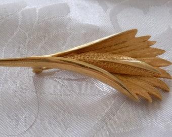 """Vintage brooch, Coro brooch, signed brooch, """"wheat shaft"""" brooch, retro brooch, vintage jewelry, 1950s brooch"""