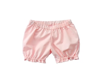 Baby / Toddler Girls pastel Pink Pantaloons / Bloomers, Back to School, cotton lawn, Vintage Retro Style -  Custom size / color