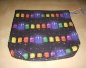 Small Rainbow TARDIS Project Bag