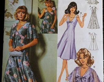 Burda 1091 Misses Princess Seamed Gown or Dress & Bolero Sewing Pattern Sz 12-16