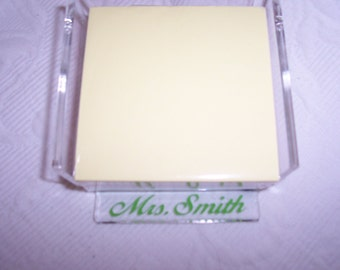 Personalized Acrylic Large Memo Pad Holder GIFT Wrapped