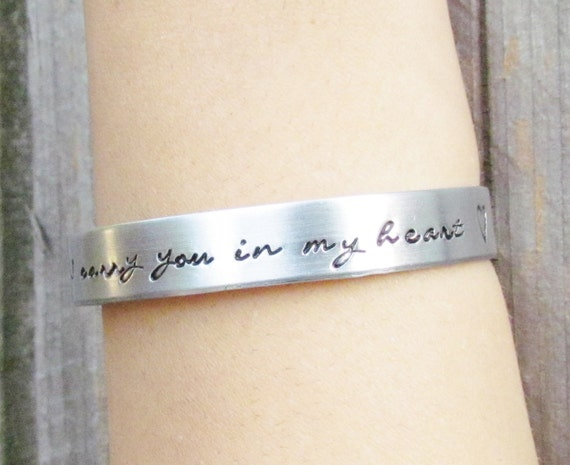 SET of 3 Custom Hand Stamped Jewelry Cuff Bracelets Aluminum Toddler Child Teen Womens PERSONALIZED Made To Order Large Choice of Fonts