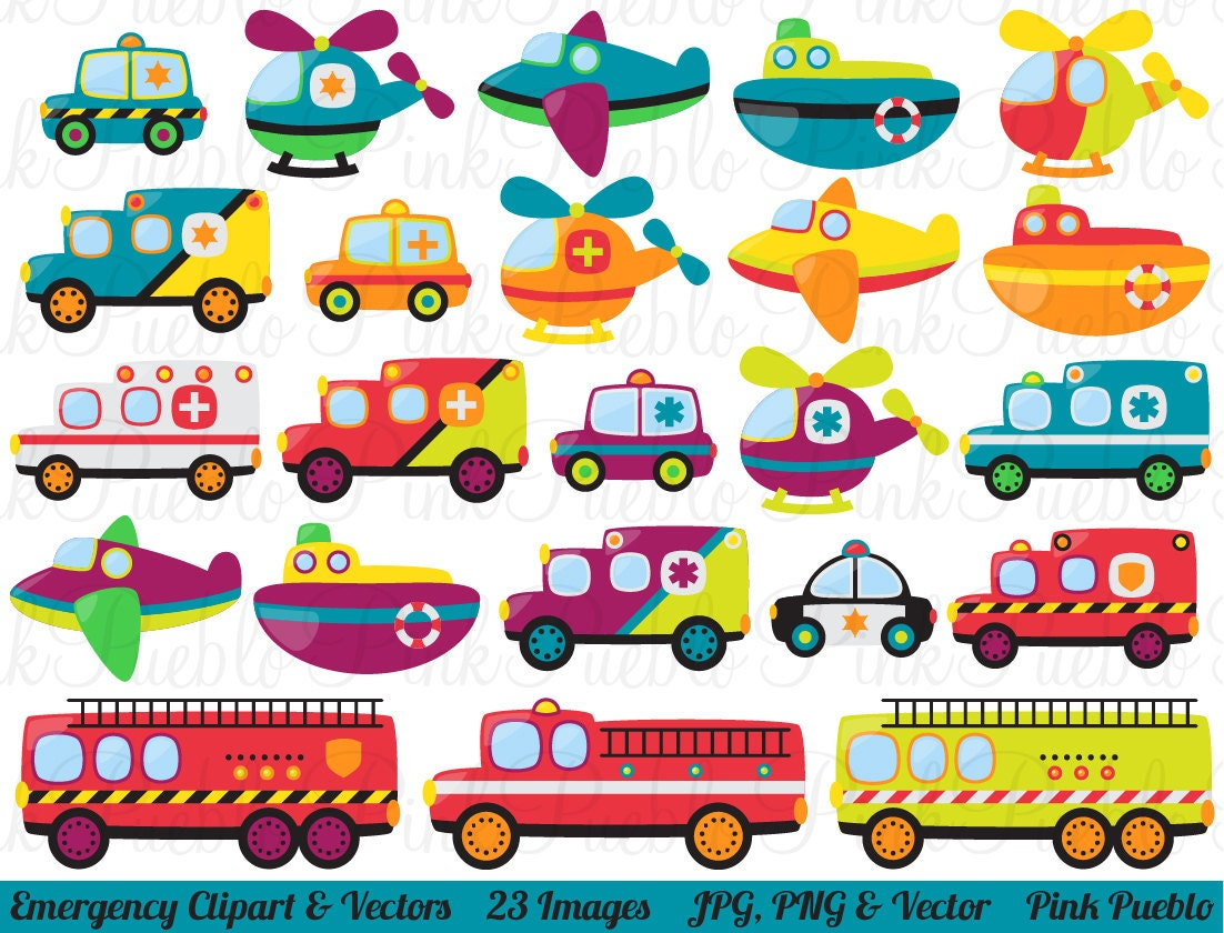 Emergency Transportation Clipart Clip Art Vectors Police