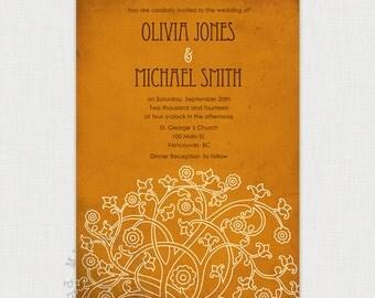 Fall  Trellis - You-Print Digital Wedding Invitation - DIY printable file