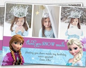 Frozen - PHOTO - Thank You Card - Printable