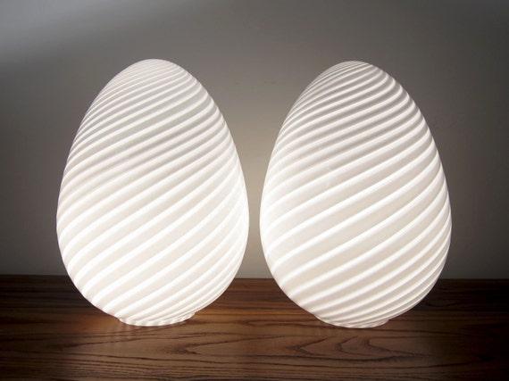 2 murano vetri lampen ei globe mundgeblasenes italienische. Black Bedroom Furniture Sets. Home Design Ideas