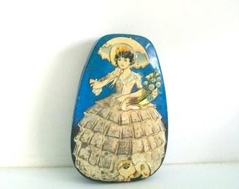 Vintage Horner Southern Belle Blue Tin