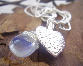 HEART AND MOONSTONE delicate necklace (44)