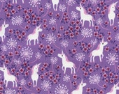 Pretty Unicorns Lilac (C2512)  - Timeless Treasures Fabric - By the Yard