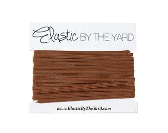 CHOCOLATE Skinny Elastic for Baby Headbands 1/8 inch - 5 yards