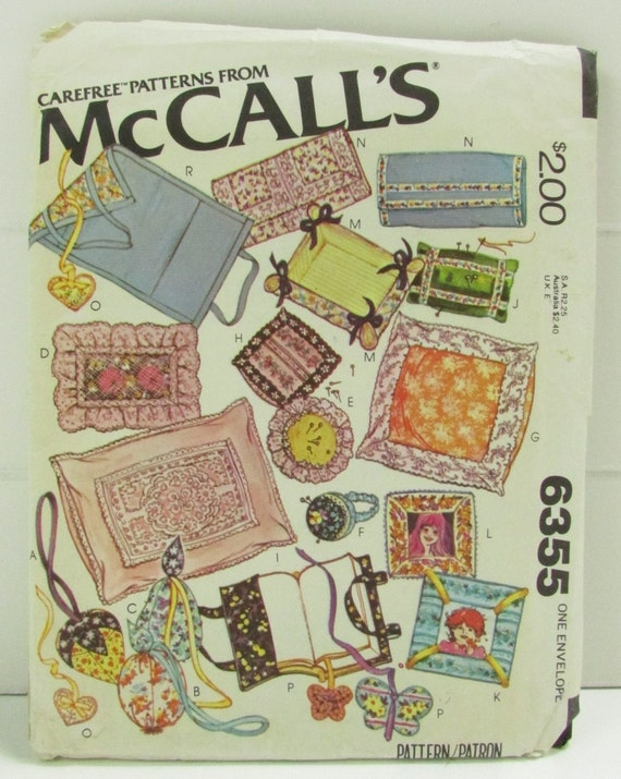 Sewing A Book Cover Pattern ~ Items similar to mccalls sewing craft pattern