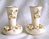 White Wedding Candleholders Creamy White Vintage Porcelain Flower Candle Holders Tilso Candle Holders Shower 1950s