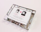 Stained Glass Keepsake Beveled Memory Box 7x9x2 Wedding Invitation Bride Groom Photograph Bat Mitzvah Custom Made-to-Order
