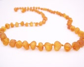 Remedy   Raw unpolished  Honey  Natural Baltic Sea Amber Necklace 18.1 inches