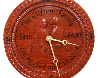 Personalized name clock 02