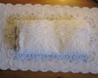 Cutters, 7 Vintage Light Weight Linen Embroidered Placemats