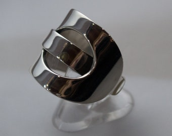 Sterling Silver Ring, Silver Ring, Wide Silver Ring, Chunky Silver Ring, Contemporary Ring, Statement Ring, Statement Silver Ring.