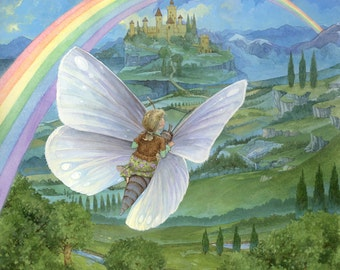 Rainbow's End Butterfly 18x24 Signed Poster