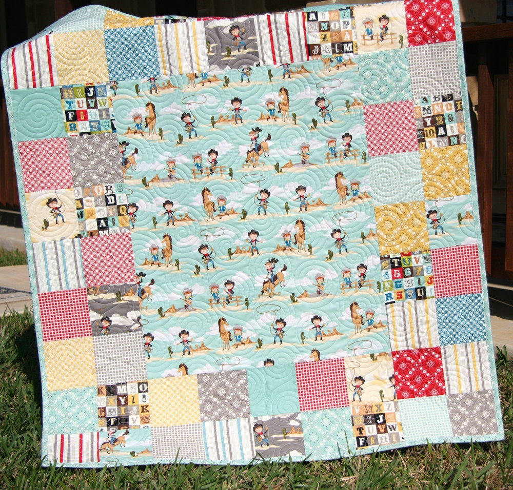 Western Baby Quilt Boy or Girl Gender Neutral by ...