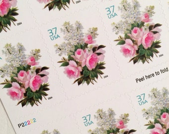 Posts 10 postcards Garden Bouquet vintage unused postage stamp
