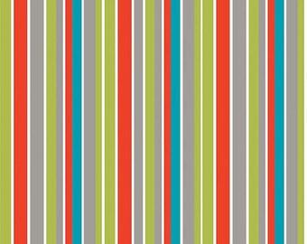 Riley Blake Designs Peak Hour Green Stripe by Kellie Wulfsohn