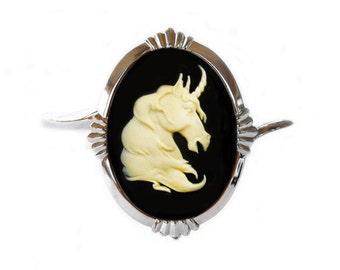 Unicorn Ivory  Cameo Bracelet Cuff - Gothic Jewelry