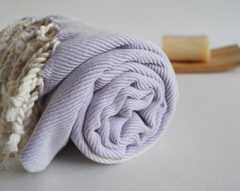 Bathstyle Turkish BATH Towel Peshtemal - SOFT - Lilac Color - Wedding Gift, Beach, Spa, Swim, Pool Towels and Pareo