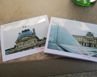 April in Paris -- The Louvre -- Photo cards (Blank inside)