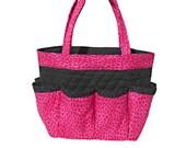 Hot Pink Leopard Bingo Bag // Craft Organizer // Makeup Organizer // Caddy // Teacher Tote // Nurse Tote