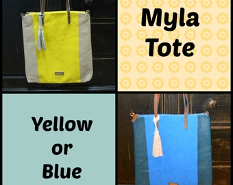 Myla Tote in Yellow or Blue