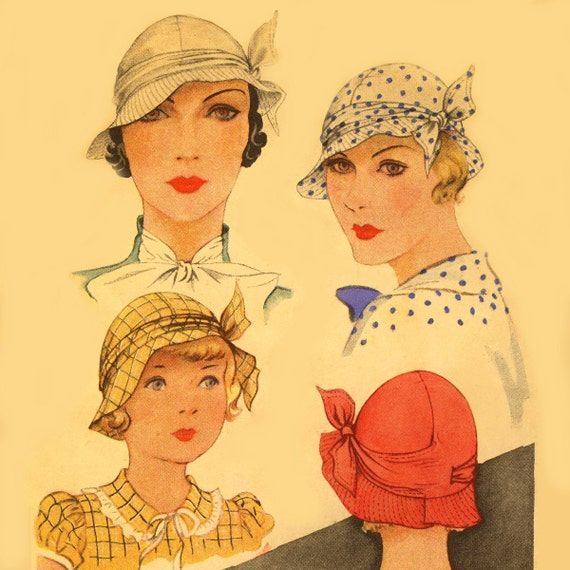 1930s Style Hats – New Vintage Inspired Designs 1930s Hat  Millinery Sewing Pattern ~ # 112 Copy! $9.99 AT vintagedancer.com