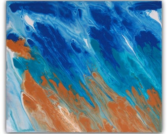 Rainfall. Original Abstract Painting. 61cm x 50cm. Ready to hang.