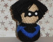 Nightwing Amigurumi Doll