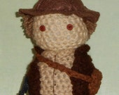 Indiana Jones Amigurumi Doll