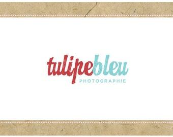 PreDesigned Logo - PreMade Logo - Vector Logo - TULIPE BLEU Logo Design - Script Logo