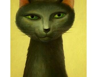 A4 Cat Print - Sumi